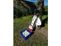 Golf clubs and bag (Balls not included)