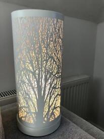 White tree silhouette lamp