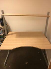 Large Ikea Desk (adjustable desk height)