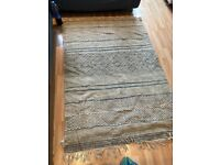 Patterned rug- blue