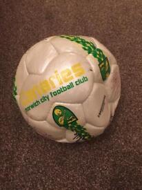 Retro Norwich City Signed Football