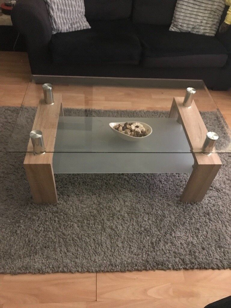 The Range Wood And Glass Coffee Table In Bargoed Caerphilly