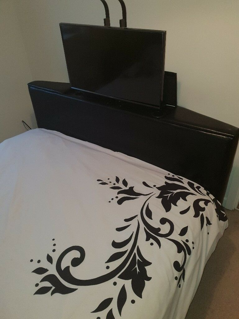 Pleasing Kingsize Ottoman Tv Bed Black Leather In Sheffield South Yorkshire Gumtree Camellatalisay Diy Chair Ideas Camellatalisaycom