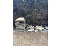 Paving slabs/rubble