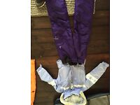 Girls Lilac Dare 2 Be, Ski Jacket and Dark Purple Trousers. £40