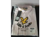 Brand New Men's Lyle & Scott Pink Stripped Shirt