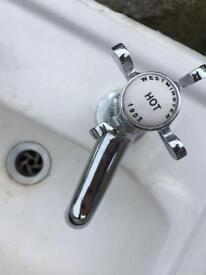 Twyford traditions WC and cloaks sink and taps