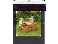 Kids sand pit table
