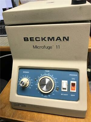 Beckman Microfuge 11 Micro-centrifuge With 12 Place Rotor Tested - Works Well