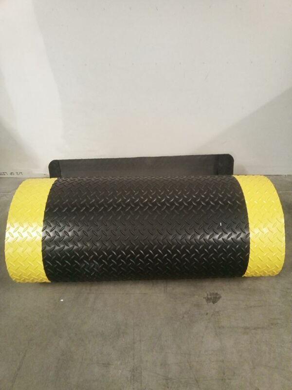 Notrax 979S0312YBRS 3 Ft W 12 Ft L Black w/Yellow Border Antifatigue Runner