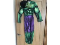 Incredible Hulk all in one dress up suit with mask age 7-8