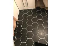 Hexagon Black Tile