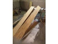 Reclaimed wooden beams