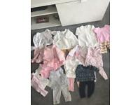 Huge bundle baby girls clothes - tiny baby up to 3mths