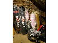 Punch bags,gloves, brackets,pads,