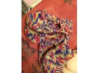 Hand knitted mittens and booties