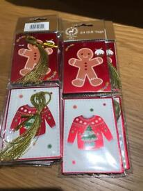 Christmas gift tags pack 24
