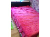 Leather Kingsize bed with matress