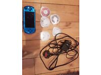 PSP Slim & Lite 3000 Blue + 5 Games
