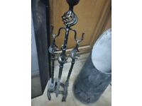 Cast Iron Fire Tools with Stand