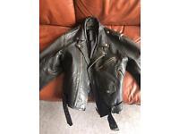 Retro leather jacket