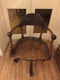 Antique Vintage Captain's Chair