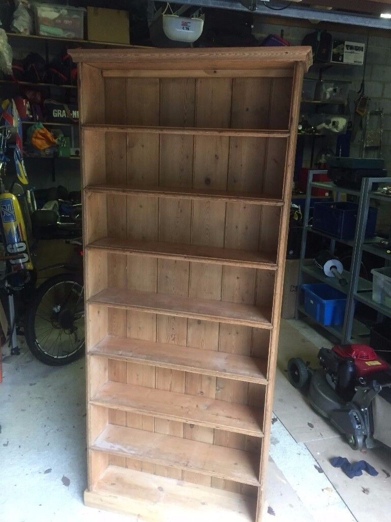 Pine shelving unit - £40
