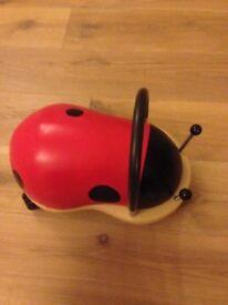 Wheely bug wooden ride on ladybird