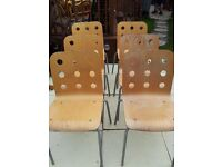 X 6 BISTRO CHAIRS SET