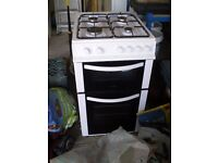 Logik Free-Standing Twin Cavity Gas Cooker - under 1 year old