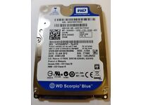 """Western Digital Scorpio Blue WD2500BPVT-75JJ5T0 250GB 2.5"""" SATA Hard Drive"""