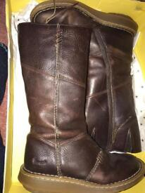 Ladies Dr Martin brown boots