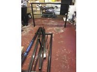 Black Wrought Iron Double Bedstead