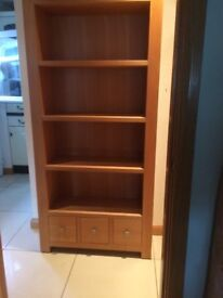 solid oak cube unit small mark on right side
