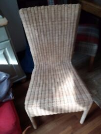 Wicker Dining room chair natural