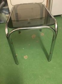 Glass/silver frame coffee table £5
