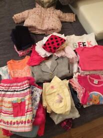 Baby girls clothes bundle 3-6