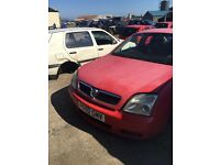 2002 vauxhall vectra, 2.0 diesel, breaking for parts only, all parts available