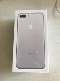 Apple iPhone 7 plus, brand new - unboxed in cellophane boxed, 128 GB, Silver/White - O2