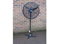"""Cyclone DF650 - T 26"""" Oscillating Pedestal fan. Heavy Duty 110v"""
