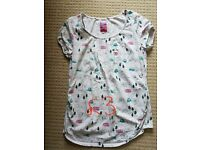 Camping/Campervan print maternity top, size 10, Red Herring