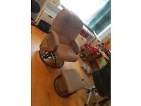 £20 Kiddicare Deluxe Glider Nursing Chair And Stool Fudge - Harrow, London