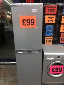 SILVER HOTPOINT FRIDGE FREEZER