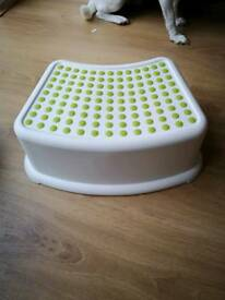 Ikea step stool ideal for kids reaching a sink etc