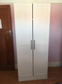 Two white wardrobes for sale. £80 for both. Excellent condition