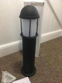 Outdoor light Bollard black New low wattage Endon lighting x 5