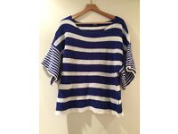 SLY Blue and White Stripe Jumper