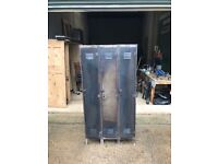 Vintage Industrial 3 Door Locker