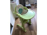 Sturdy baby high chair with seat