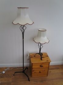 Matching Standard and Table Lamps